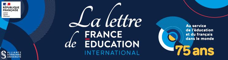 Bandeau de la Lettre de France Éducation international